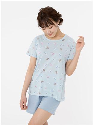 ミルク柄パジャマ(半袖・1分丈パンツ)|パジャマ