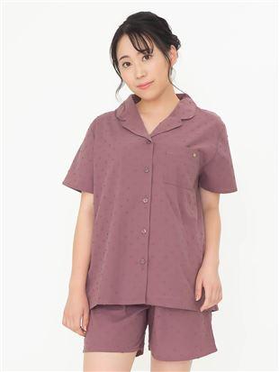 綿100%カットドビーパジャマ(半袖×1分丈パンツ)|