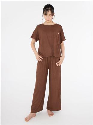 リブ半袖パジャマ|パジャマ