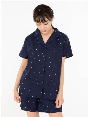 星柄コットンパジャマ(半袖・1分丈パンツ)|パジャマ
