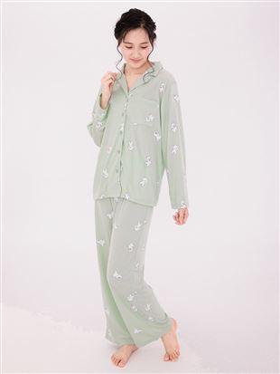 トイプードル柄薄手スムースパジャマ|パジャマ