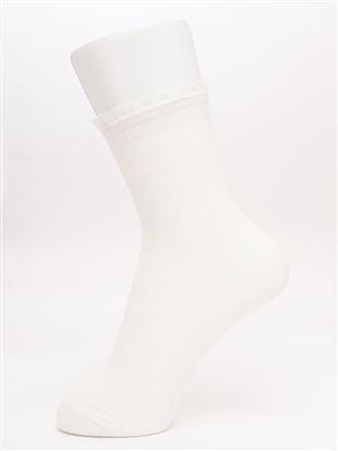 履き口プリーツフリル付きリブソックス14cm丈|