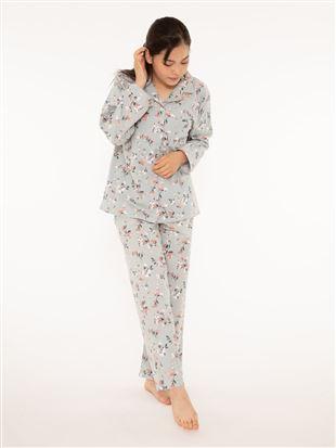 綿フランネル花柄パジャマ|パジャマ