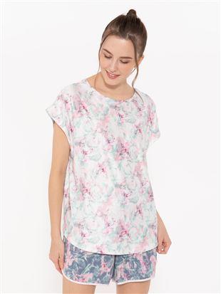 ぼかし柄ドルマンTシャツ|