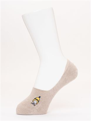 綿混ニット帽男の子刺繍深履きカバーソックス|カバーソックス・フットカバー