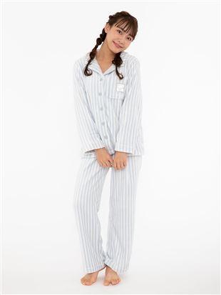ストライプ柄マイクロファイバーソフトパジャマ パジャマ