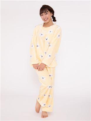 白くま柄マイクロファイバーパジャマ|パジャマ