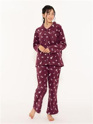 花柄フリースパジャマ|パジャマ