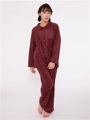 ドット柄フリースパジャマ パジャマ