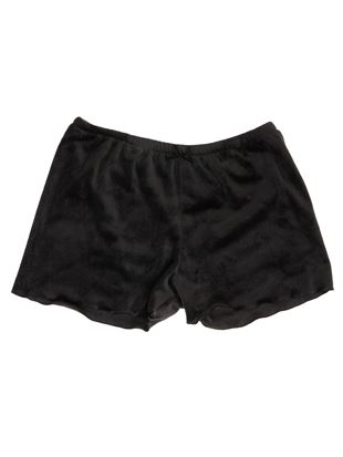 [薄手]ベロア無地1分丈パンツ|あったかパンツ