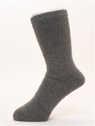 [メンズ]まるで毛布!のような暖かさ裏起毛ソックス21cm丈|メンズソックス