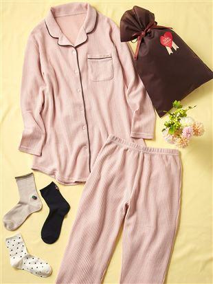 【ギフトセット】無地ワッフルパジャマ+カジュアル靴下セット(WEB限定)|