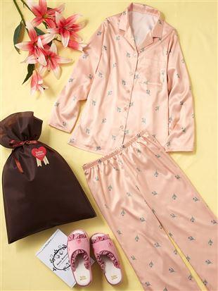 【ギフトセット】母の日パジャマ+スリッパセット(WEB限定)|ルームウェア