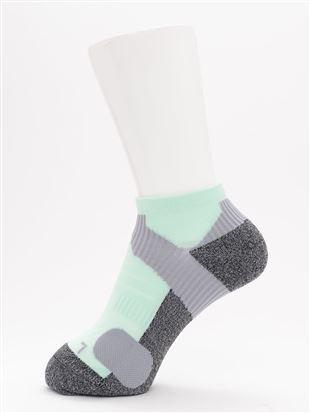[スポーツ]パイル切替母趾小趾補強くるぶしソックス|