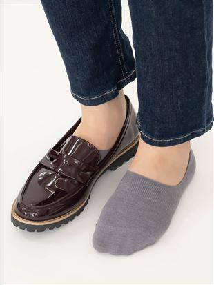 [ストレス0靴下]温調無地超深履きカバーソックス|カバーソックス・フットカバー
