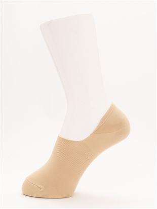 [ストレス0靴下]COOLMAX無地超深履きカバーソックス|