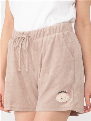 トイプードル刺繍パイル1分丈パンツ|ボトム