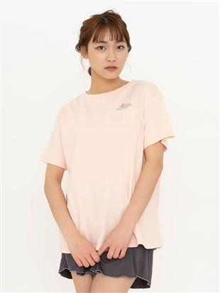 綿スムースくま刺繍Tシャツ|