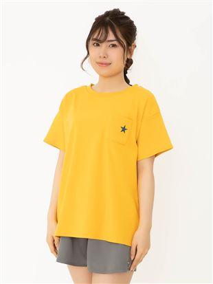 綿100%バックロゴプリントTシャツ|トップス