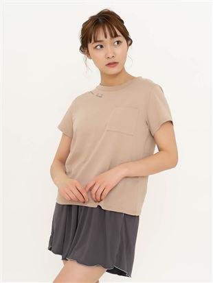 綿天竺ロゴプリントTシャツ|