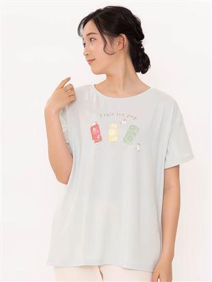 ベア天アイスキャンディープリントTシャツ|