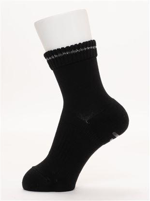 履き口ゆったり綿混パイル土踏まずサポートアメリブソックス15cm丈|クルーソックス
