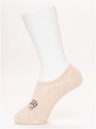 綿混スマイル食パン刺繍ローカットくるぶしソックス|スニーカー(くるぶし)ソックス