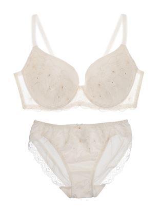 [永遠のブラ]コスメーアフィオレブラセット(大きな胸を小さく見せるタイプ)|3/4カップのブラ&ショーツセット