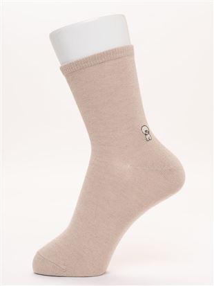 温調いろいろわんちゃん刺繍ソックス16cm丈|クルーソックス