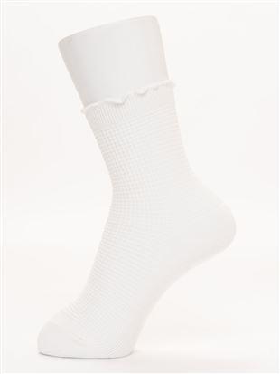 綿混履き口メロータックリンクスソックス15cm丈 