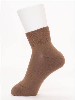 綿混足底パイル編み口ゴムソックス11.5cm丈 クルーソックス