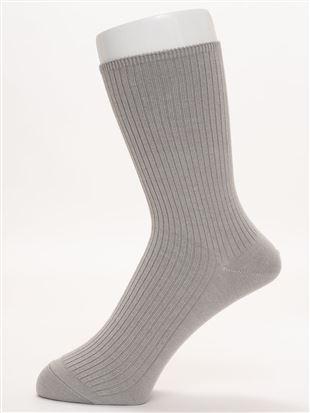 【メンズ】ちょうどいい靴下リブリブソックス19cm丈|メンズソックス