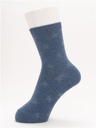 [ちょうどいい靴下]リンクス星柄ソックス15cm丈|