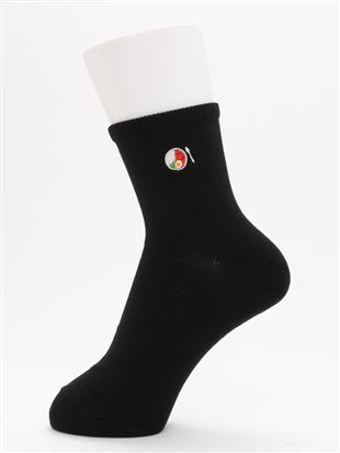 [ちょうどいい靴下]スパイスカレー刺繍温調ソックス13cm丈|クルーソックス