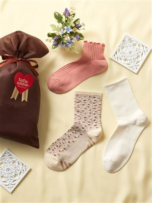 【ギフトセット】母の日履き口ゆったり靴下3足組(WEB限定)|レッグウェア