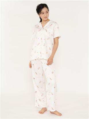 スイーツ柄サテンパジャマ(半袖×ロングパンツ)|パジャマ