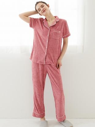 無地パイルパジャマ(半袖×ロングパンツ)|パジャマ
