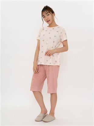 くま柄パイルパジャマ(半袖×5分丈パンツ)|パジャマ