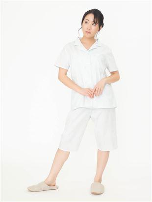 アイス柄布帛パジャマ(半袖×5分丈パンツ)|