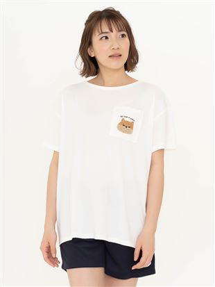 ベア天柴犬さがら刺繍Tシャツ|