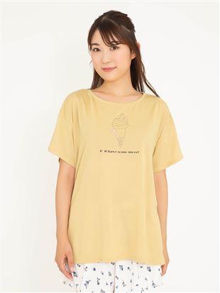 くまソフトクリームドロップTシャツ|トップス