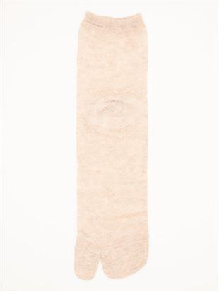 履き口ゆったり花ツタ柄メッシュ2本指ソックス12cm丈|足袋・2本指ソックス