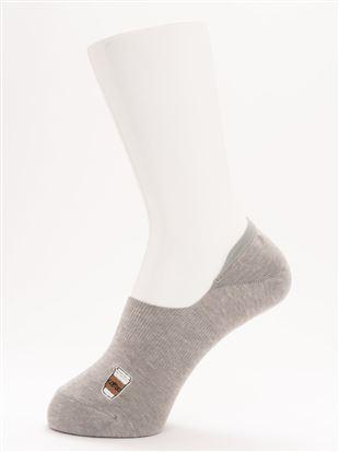 [ストレス0靴下]綿混パンとコーヒー刺繍調深履きカバー|