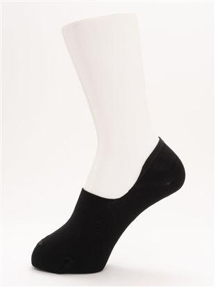 [ストレス0靴下]ローズワンポイント刺繍深履きカバーソックス 