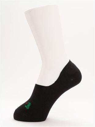 [ストレス0靴下]綿混火を吹く恐竜刺繍超深履きカバーソックス|カバーソックス・フットカバー