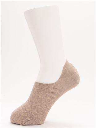 [ストレス0靴下]ラメフロートレーシー柄超深履きカバーソックス|カバーソックス・フットカバー
