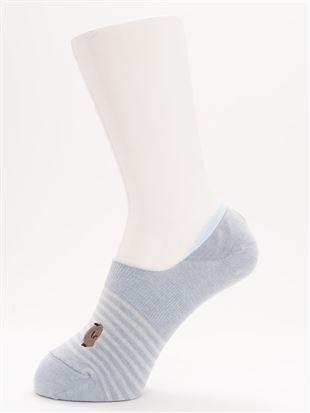 [ストレス0靴下]綿混子ペンギン刺繍超深履きカバーソックス|カバーソックス・フットカバー
