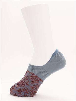 [ストレス0靴下]ラメダマスク柄深履きカバーソックス|カバーソックス・フットカバー