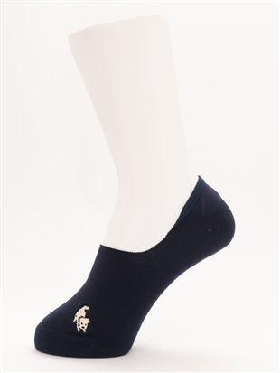 [ストレス0靴下]シュナウザー犬刺繍深履きカバーソックス|カバーソックス・フットカバー