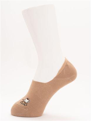 [ストレス0靴下]コーヒー豆刺繍超深履きカバーソックス|
